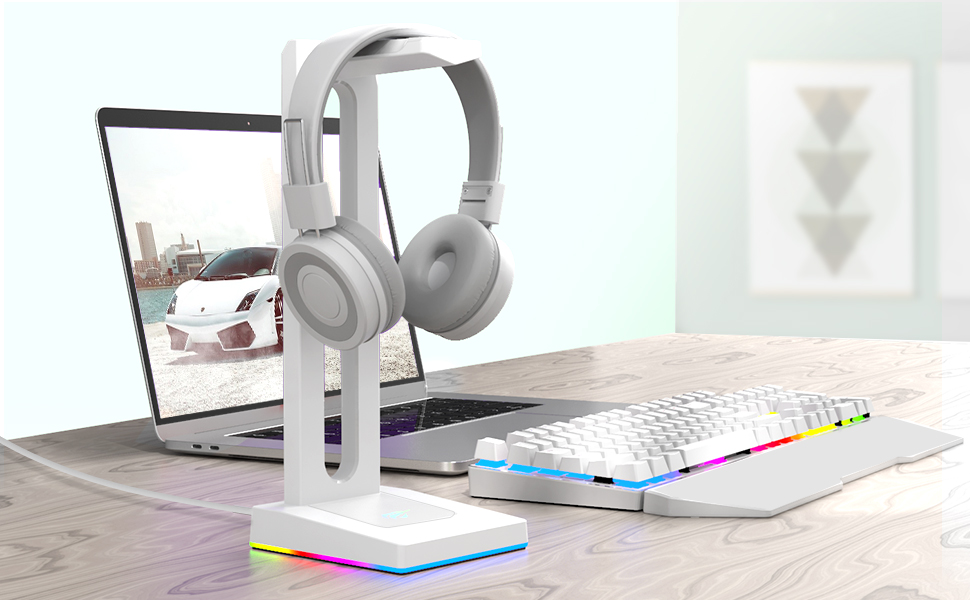 rgb headset stand