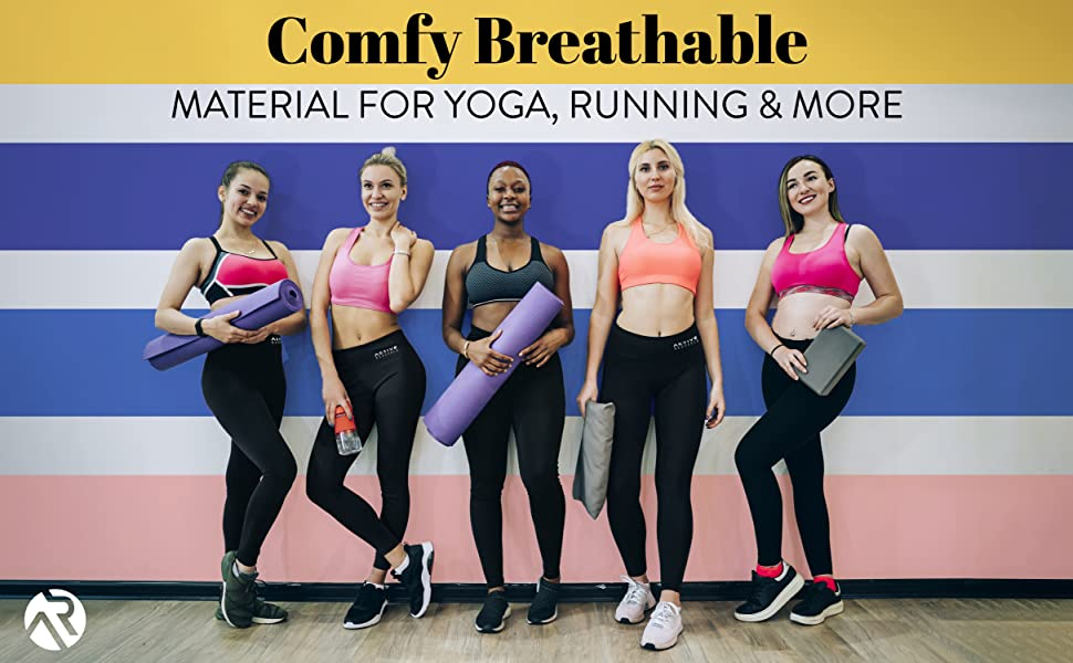 Comfy Breathable material for yoga running and more