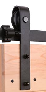 200CM/6.6FT Puerta de granero corredera estilo rústico puerta de ...