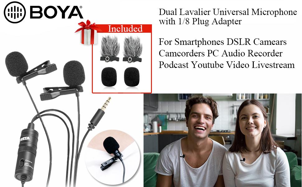 MINI Microfono Clip per bavero lavalier per Smart Phone /& fotocamera video TABLET APP