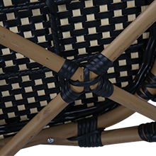 All-Weather Woven Rattan Arm Chair Indoor for Garden/Backyard/Bistro/Cafe
