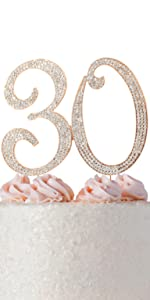 30 cake topper 30th birthday anniversary party decorations decoration thirty dirty toppers