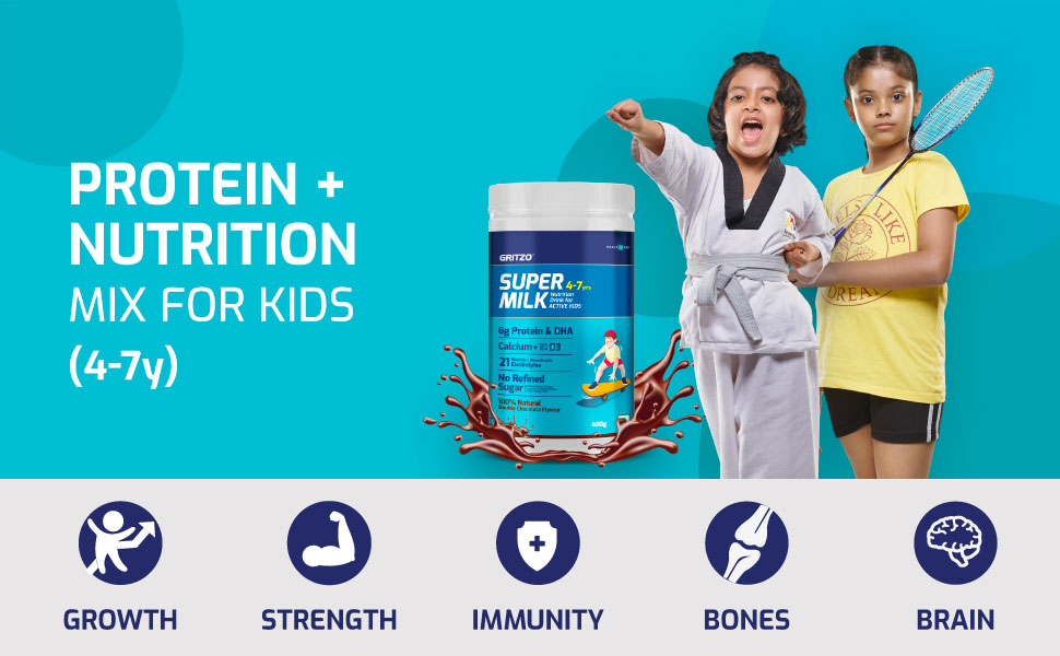 Protein + Nutrition Mix For Kids (4-7y)