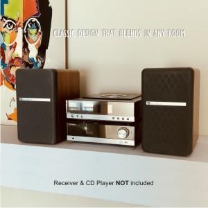 T25 Beech Wood Bookshelf speakers