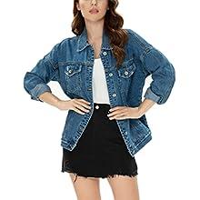 Tsher women' blue denim jacket