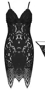 women sweet lace summer nightdress nightgown plus size sexy see through nightie pyjamas homewear pjs