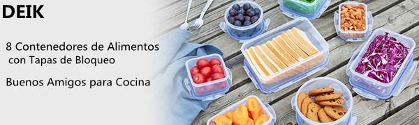 DEIK Fiambreras, Contenedores de Alimentos, Set de Recipientes ...