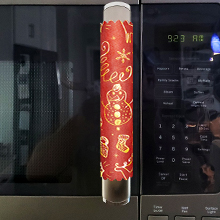 Microwave oven handle cover
