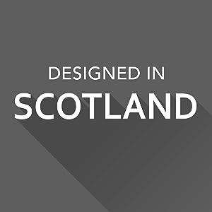 Progettato in Scozia