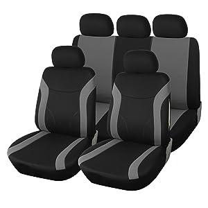 Schwarz-blaue Velours Sitzbezüge für NISSAN TIIDA Autositzbezug VORNE