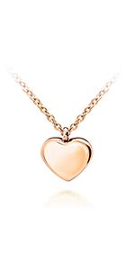 Dainty Shiny Heart Necklace