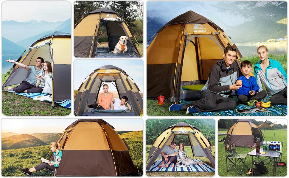 3-mans pop-up tält hydrauliska tält UV-skydd tält