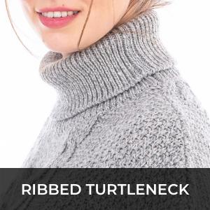 SAOL irish sweater poncho merino wool big cable knit ladies women