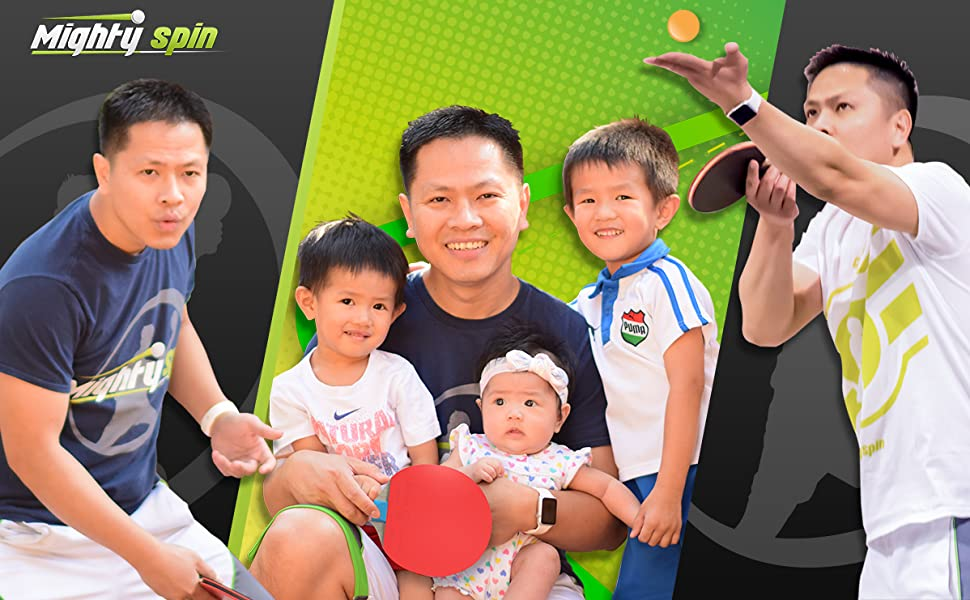 MightySpin Ping Pong Paddle and Accessories