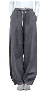 cotton linen drawstring trousers