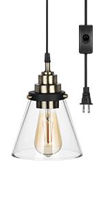 Glass plug in light