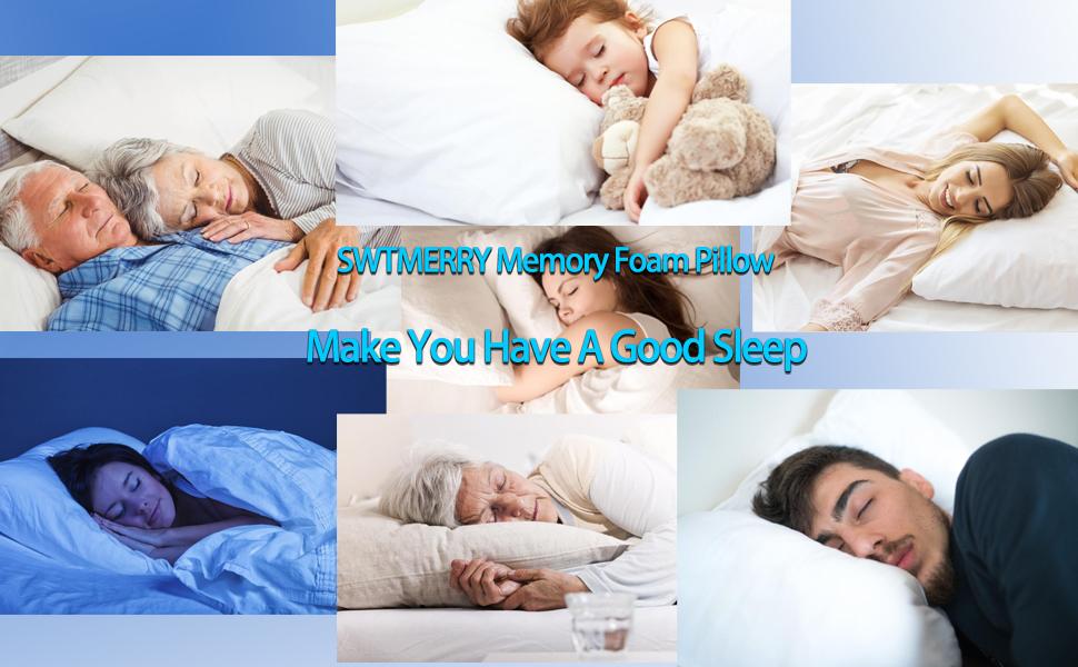 swtmerry memory foam pillow