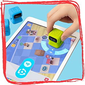Get basic coding skills through interaction between Tangiplay robots and App Games