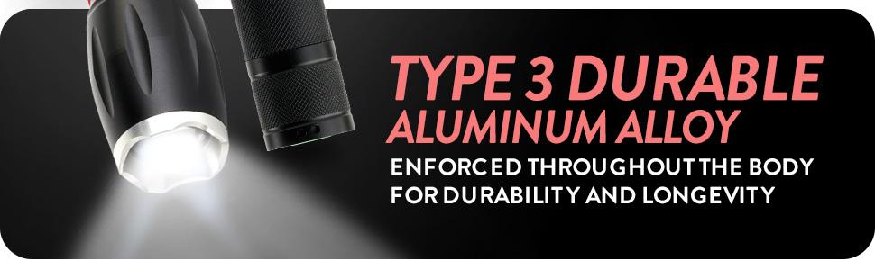 LED Flashlight Tactforce600 3