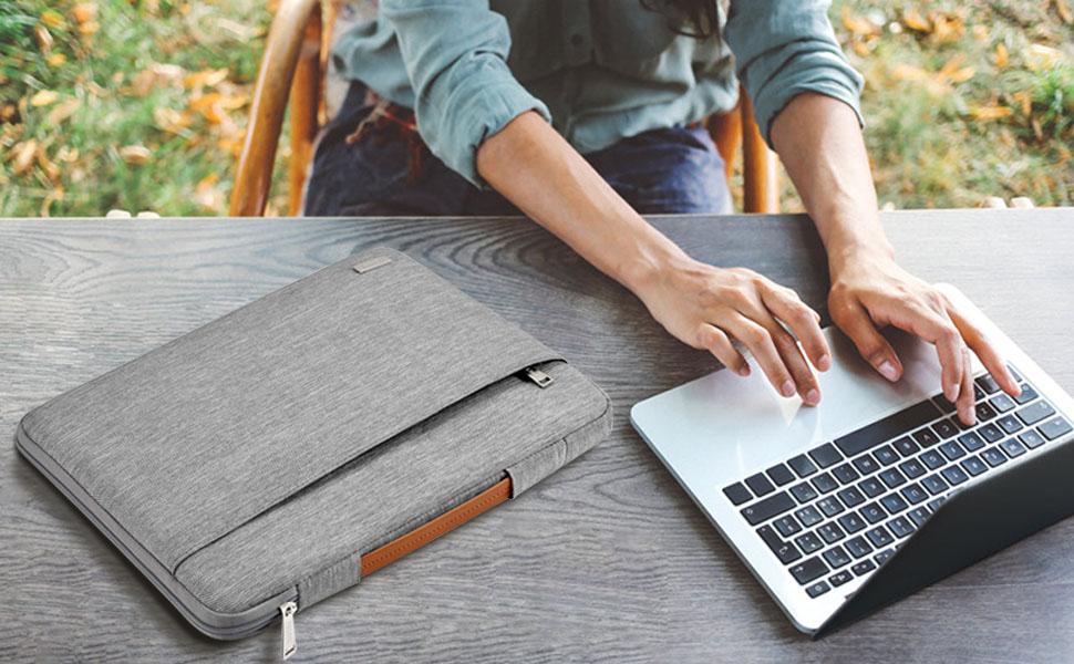 Schwarz TECOOL 13-13,3 Zoll Laptop H/ülle Tasche Leder und Zubeh/örtasche f/ür 2010-2017 MacBook Air 13//2012-2015 MacBook Pro 13//13.5 Surface Laptop 3 Matebook X Pro Schutzh/ülle Faux Wildleder