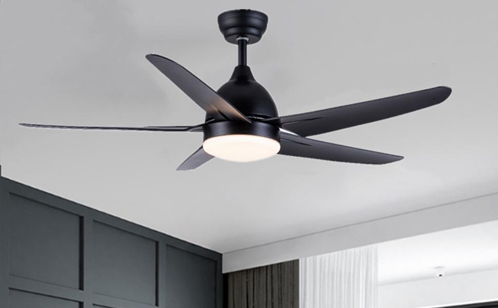 silencieux ventilateur plafond telecommande avec lumière