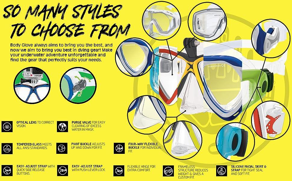 diving mask, mask, snorkeling mask