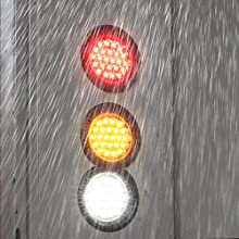 """2pc Red 4"""" 24-LED Round Tail Light waterproof."""