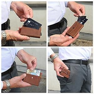 Kartenetui Lederbörse Slim wallet kreditkartenetui Geldbörse
