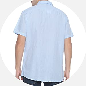 short sleeve button down shirts for men