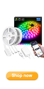 Smart LED Lights Strip with Music Sync, APP Control 32.8Ft LED Strip Light Waterproof Dreamcolor