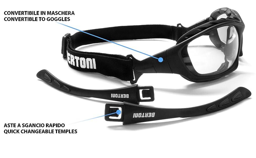 Bertoni Motorcycle GogglesBertoni Motorcycle Goggles Padded Sunglasses Padded Sunglasses