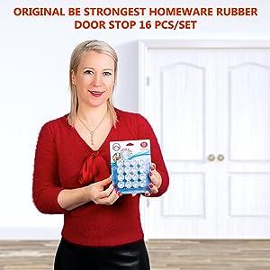 DEUR STOPPER RUBBER BUMPERS 12 PACK Bescherm je muren en bescherm de waarde van je huis