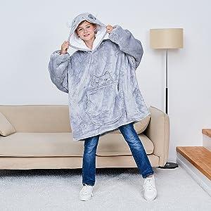 cat hoodie blanket for boys