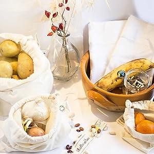 Cotton produce muslin bag