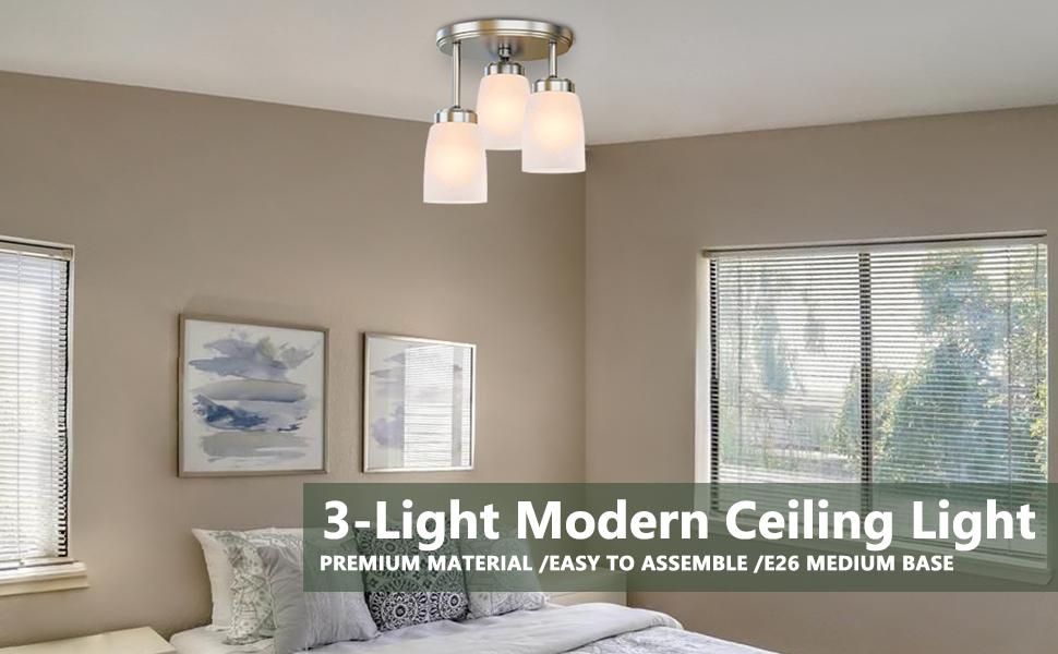 3-light modern ceiling light