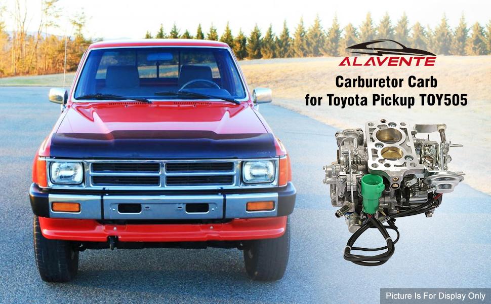 Amazon Com Alavente Carburetor Carb Replacement For 1981 1987 Toyota 22r Engine With Round Plug Connector 2 Barrel Toy 505 Toy 507 35290 2 4l 2366cc C4036 Automotive