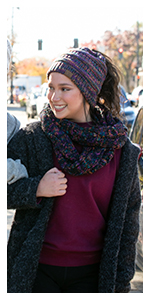 matching beanie tail and infinity scarf set