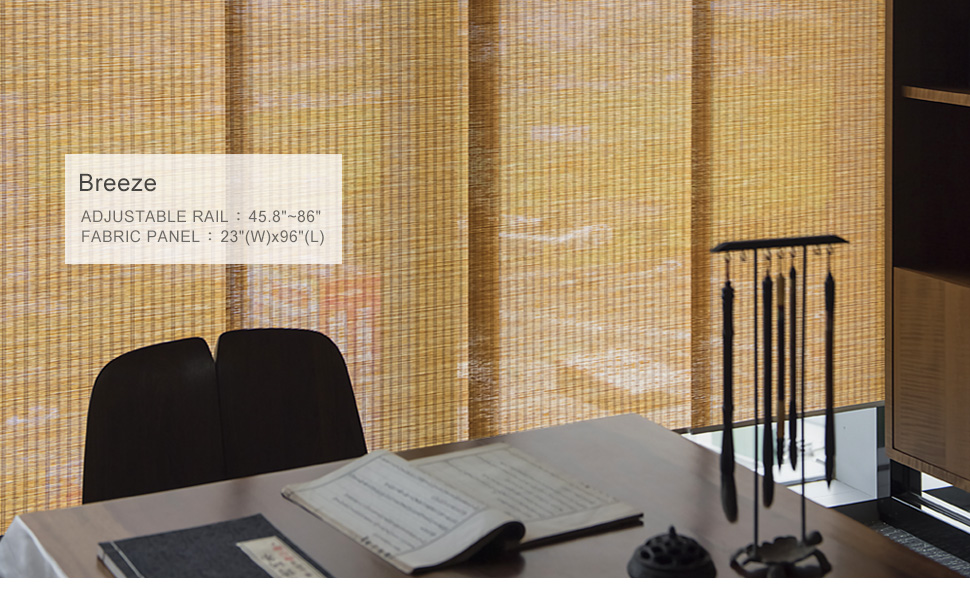 godear design deluxe adjustable sliding panel breeze zen style