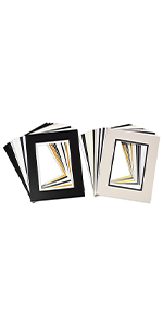 golden state art 8x10 for 5x7 double matte matting 25 pack bevel cut white core for photo print