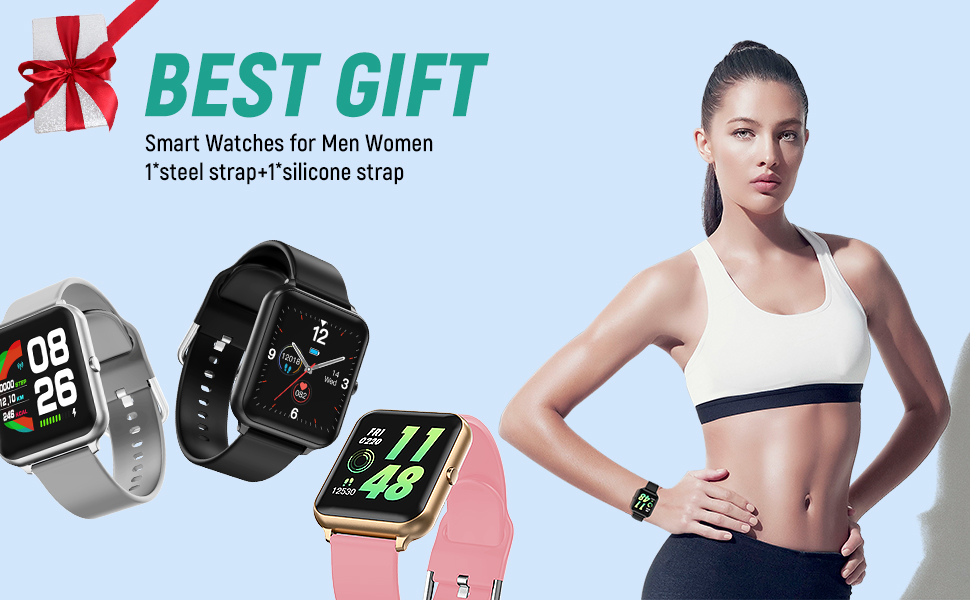 smart watch for men women heart rate monitor pedometer