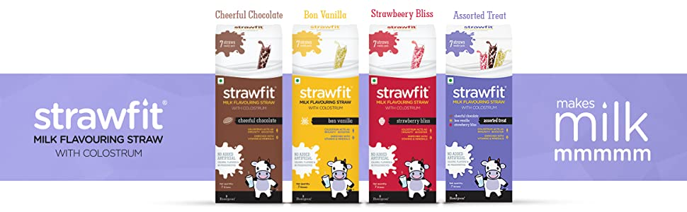strawfit milk flavouring straws pack of 7 chocolate strawberry flavor