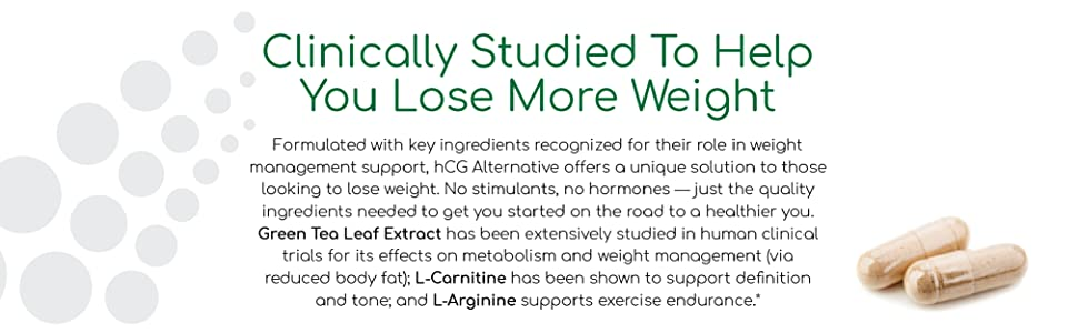 HCG Alternative, Green Tea Extract, L-Carnitine, Saffron Extract, for weight loss