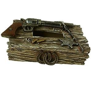 cowboy western tissue box cover western pistol can opener jar opener