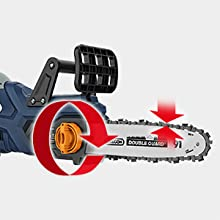 Tool-less chain tensioning