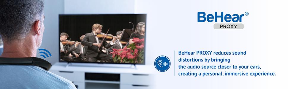 TV Headset, BeHear PROXY, Headset for seniors, TV speaker for seniors, Headset for hearing impaired