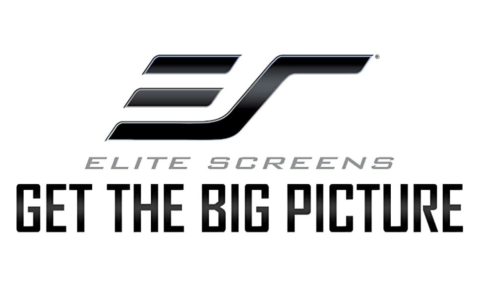 Elite Screens Manual Tab-Tension 2 MT125XWH2 4K // 8K Ultra 3D HD Ready Drop Down Projection Screen Wall//Ceiling Mounted 125-Inch Diagonal 16:9 Built-in Slow Retract Mechanism