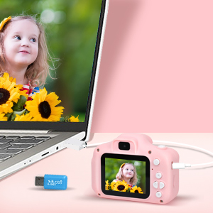 Best Birthday Gift for 3-8 Years Old Boys and Girls Toddler Video Record Camera with 32GB SD Card