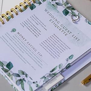 wedding planner journal organizer countdown calendar