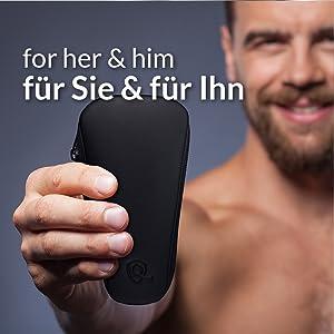 marQus set manicura de 5 piezas de Solingen Alemania - Set de manicura y pedicura para hombre y mujer en estuche de piel auténtica, kit de manicura y pedicura ideal para viaje: