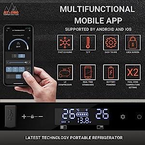 PortableRefrigerator - Multifunctional Mobile App Control - Keto Diet Motivation
